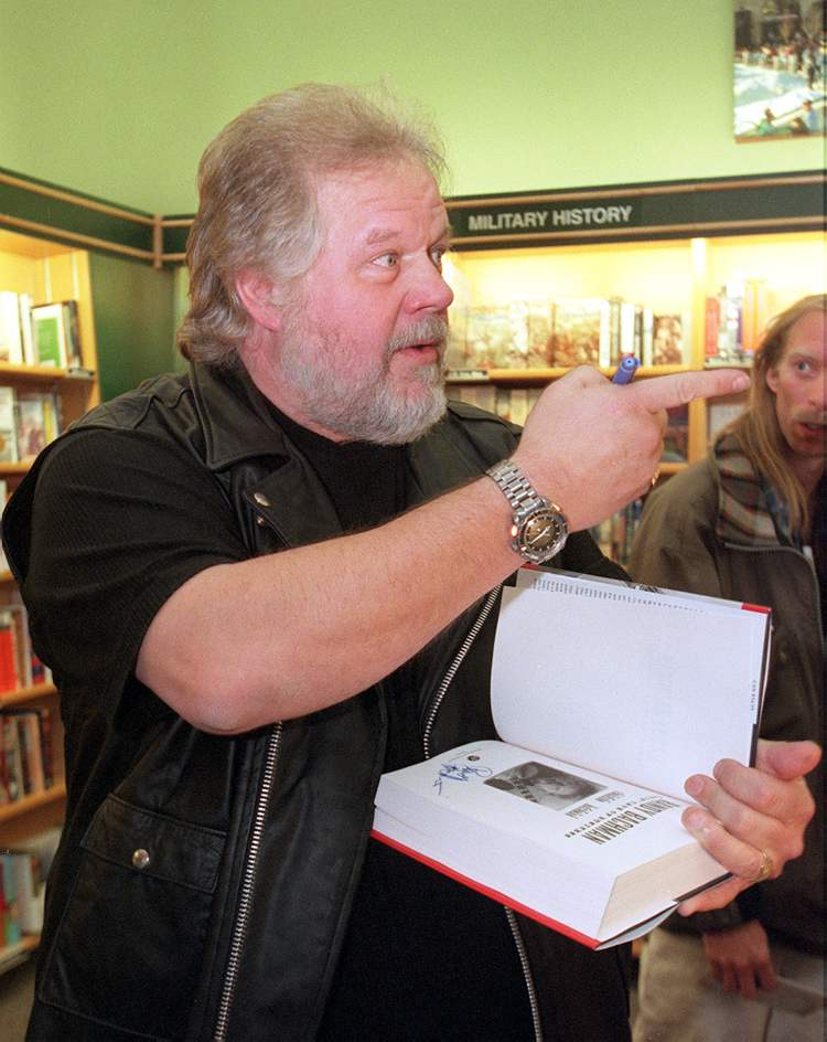 September 27, 2000: Randy Bachman was greeted by friends and fans at his book  launch along with coauthor John Einarson at McNally Robinson Booksellers Grant Park.