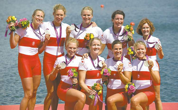 Hanson and her eights team claimed silver  in ther 2,000 metres on Thursday.
