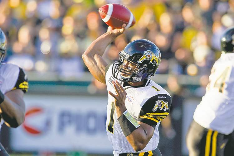 Chris Young / the canadian press archivesHamilton Tiger-Cats quarterback Henry Burris is on fire this season: 15 TD passes in five games.
