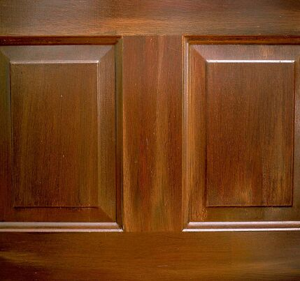 Creating a faux French finish is a great way to update a tired looking door.
