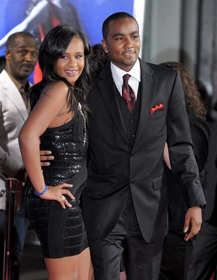 FILE - In this Aug. 16, 2012 file photo, Bobbi Kristina Brown, right, and Nick Gordon attend the Los Angeles premiere of