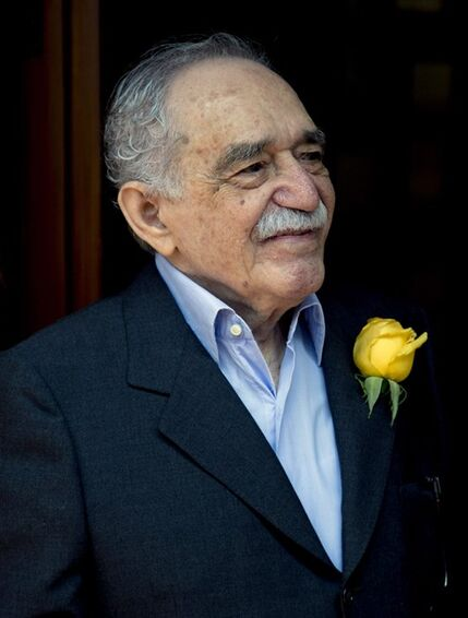 FILE - In this March 6, 2014 file photo, Colombian Nobel Literature laureate Gabriel Garcia Marquez greets fans and reporters outside his home on his 87th birthday in Mexico City. Marquez died Thursday April 17, 2014 at his home in Mexico City. (AP Photo/Eduardo Verdugo, File)