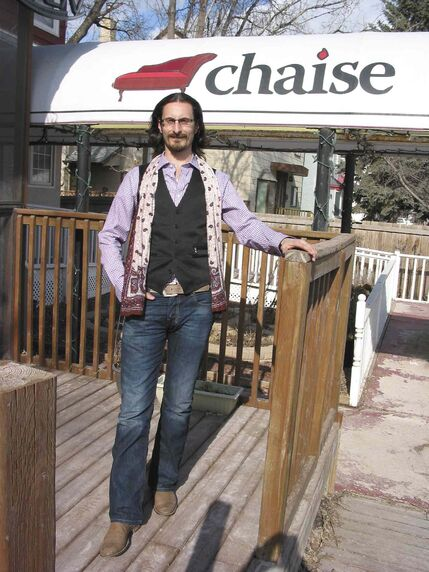 Shea Ritchie, owner of Chaise Café and Lounge, is excited about continuing to make his mark in the community.