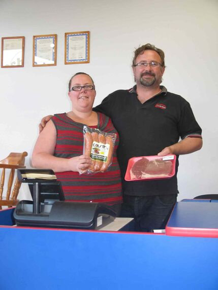 Sheryl and Davis Rozitis are shown in their new Fresh to the Bone store on Henderson Highway.