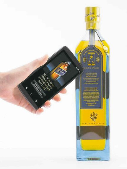 Consumers wave their phone near the label to get deals or serving suggestions.