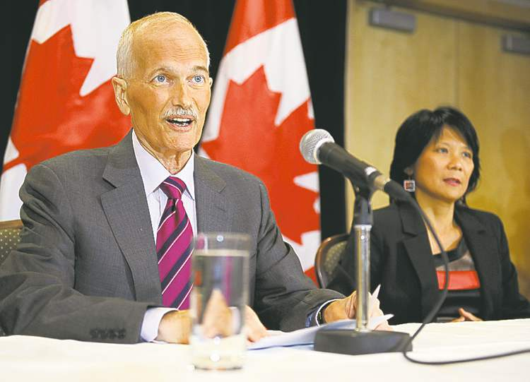 Postmedia News archivesAt his last news conference in July 2011, Jack Layton stepped aside as NDP leader.