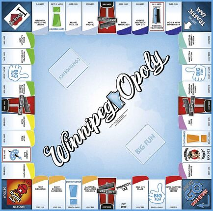 Supplied image  Canadian owned and operated Outset Media and Walmart Canada are launching a limited-edition board game that celebrates all things Winnipeg. Our new game Winnipeg-Opoly will be available for a limited time exclusively at Walmart. It takes a distinctively Canadian spin on the classic game of Monopoly where the properties and places are Winnipeg staples. Landmarks and events featured include Tinkertown, Culture Days, Leo Mol Sculpture Garden, Doors Open Winnipeg and many others!
