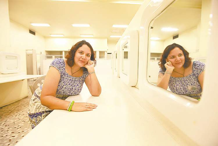 The Bay downtown's women's washroom captivated Jackie Gudz as a youth. She still visits today.