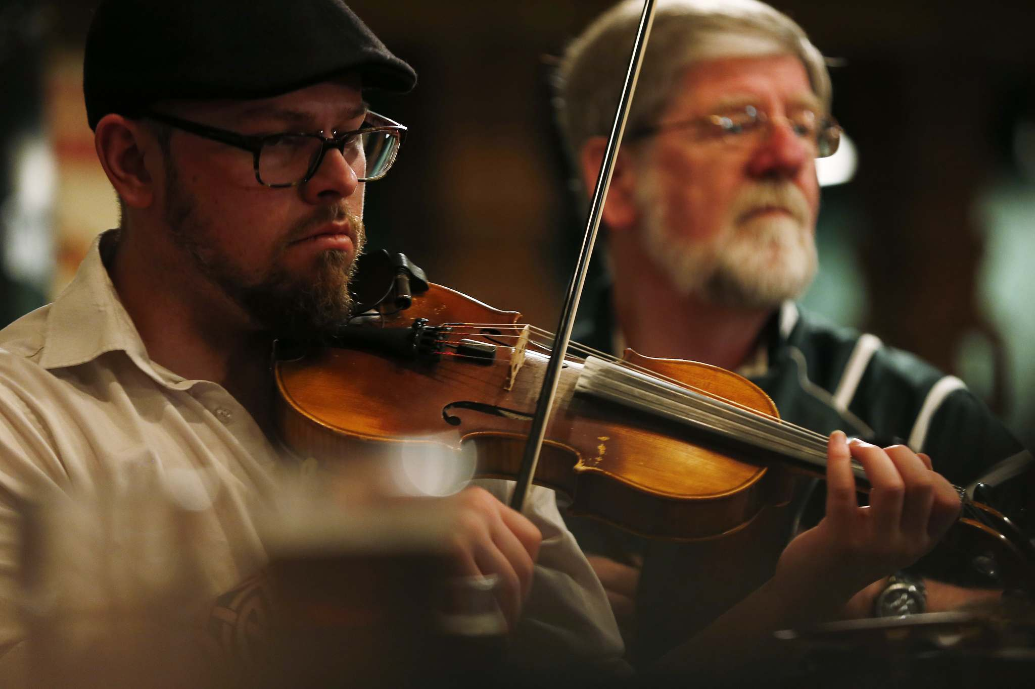 Dale Brown and other Celtic musicians and dancers practise on a Monday.</p>