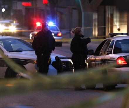Winnipeg police have a section of Hargrave Street between St. Mary Avenue and Graham Avenue taped off after a reported assault Wednesday.