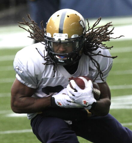 Running back Paris Cotton, along with safety Ian Leggett and defensive back Bruce Johnson are big cogs in the Bombers machine.