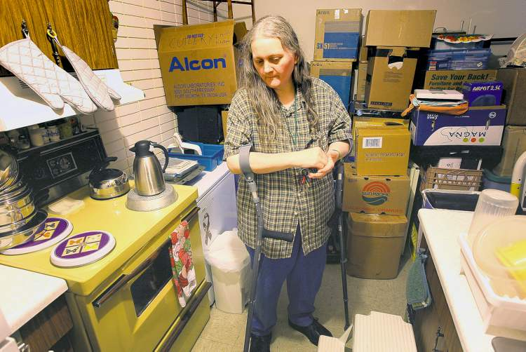 JOE BRYKSA / WINNIPEG FREE PRESS  Heidi Brousseau of North Kildonan may be homeless soon. Sussex Realty won't accept her rent subsidy and may force her to move out this month.