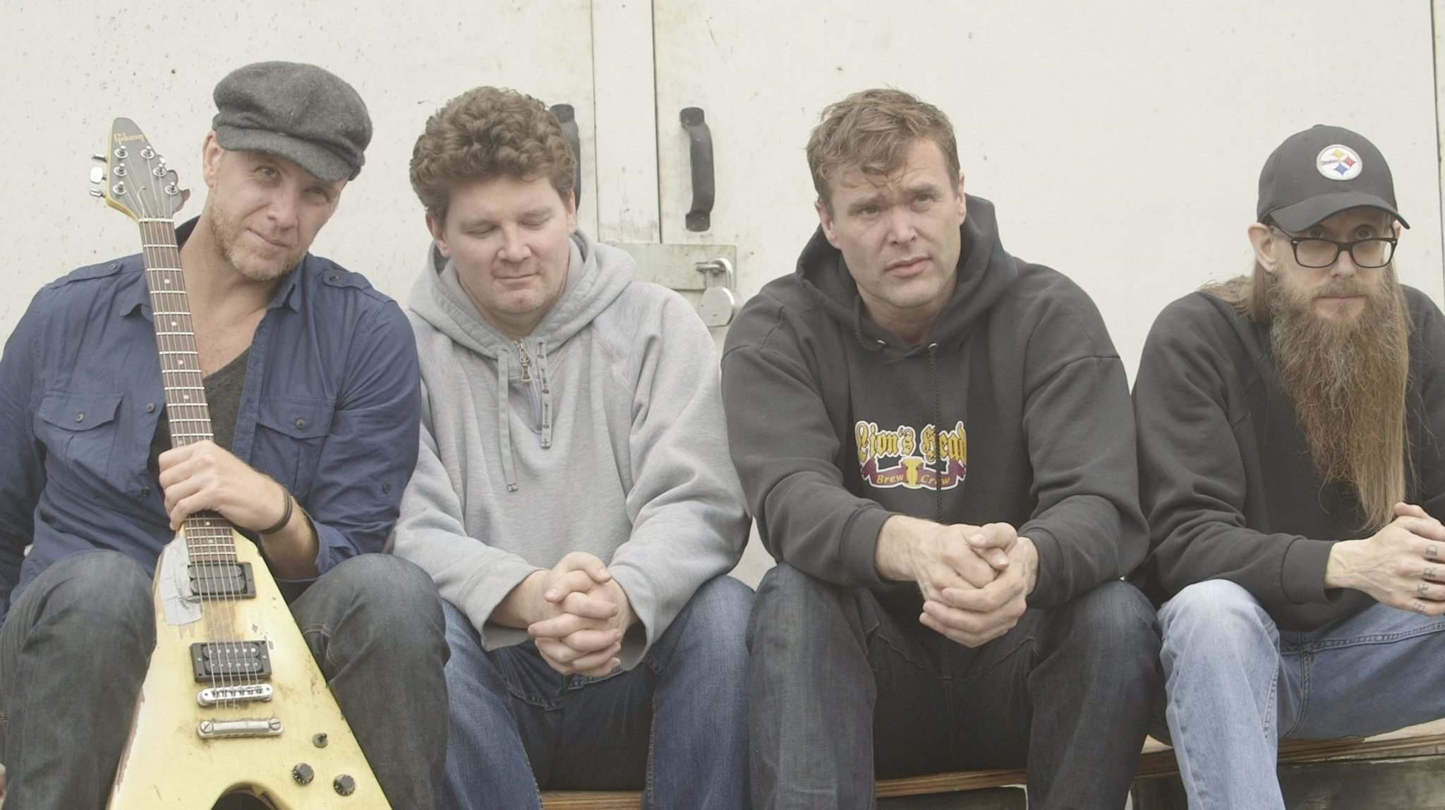 From left, Dug Bevans, Mike Caldwell, Corb Lund and Terry Johnson.</p>