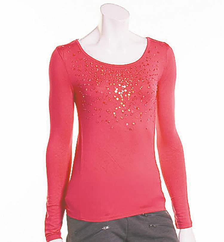 You don�t need head-to-toe sequins to impress: a bedazzled top or cardigan will do the trick.All items from Triple Flip.