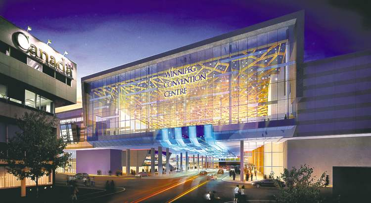 ARCHITECTURAL DRAWINGThe Winnipeg Convention Centre expansion, shown above in a drawing, will cost $180 million.