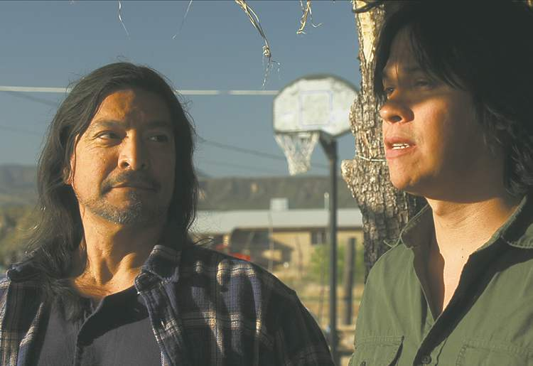 SUPPLIEDSpencer (right) with Gil Birmingham in Shouting Secrets, WAFF�s opening-night film.