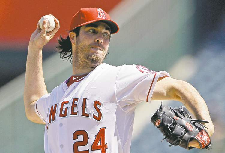 Reed Saxon / the associated press archivesThe Nationals are close to adding free agent Dan Haren, with the Angels last season, to an already strong rotation.