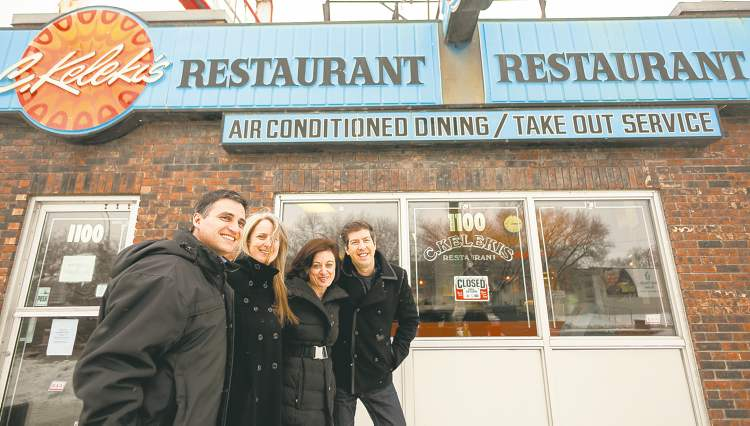 Darren Earn (left) told his Toronto friends, Marla Minuk, Josie Distasio and Ron White, Kelekis Restaurant was closing, and they're back to enjoy one last meal before it's gone for good.