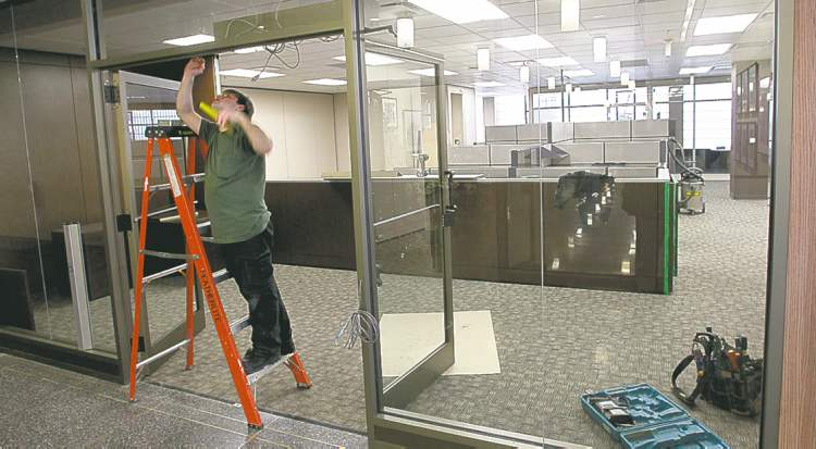 The offices on the main floor of the Winnipeg City Hall's Administration Building are being prepared for the move of the City Clerk's Dept. located in the Council Building.