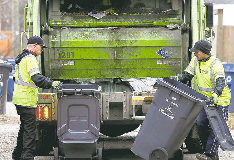 WAYNE GLOWACKI / WINNIPEG FREE PRESS archives  Complaints about Emterra's garbage and recycling pickup service have decreased, but some councillors say the contractor is still missing areas around the city and want to know what penalties are being levied.