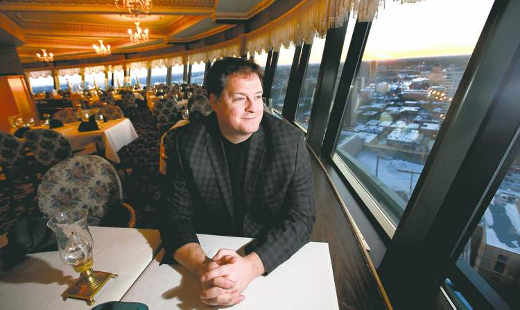 Ruth Bonneville / Winnipeg Free Press Hermanos owner Noel Bernier will reopen the revolving restaurant atop Fort Garry Place in October. The iconic space has sat empty for four years. The new restaurant will feature a made-in-Manitoba menu.