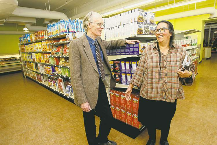 General manager Russ Rothney with co-op president Louise Champagne.