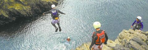 If you got guts, a morning of coasteering finishes with the most daring cliff jump.