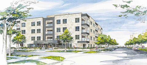 An artist's rendering of Conrad House.