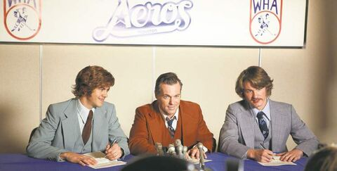 From left, Andrew Herr as Mark Howe, Shanks and Dylan Playfair as Marty Howe.