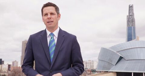 Screen grab of Bowman campaign video