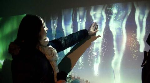 The new polar facility at the zoo features interactive displays.