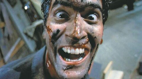 Bruce Campbell in Sam Raimi's Evil Dead trilogy.