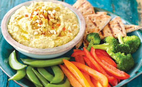 Almond and olive hummus