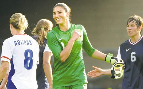 Don't expect Hope Solo to laugh it up with Brandi Chastain any time soon.