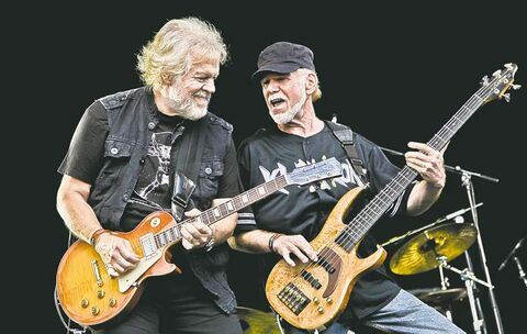 Randy Bachman and Fred Turner were like giants when they visited The Shire.