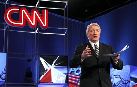 FILE - This Feb. 22, 2012 file photo shows CNN's John King before the Republican presidential candidates debate in Mesa, Ariz. King will anchor the weekend political show