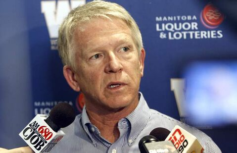 Winnipeg Blue Bombers head coach Tim Burke speaks to the media at Investors Group Field on Tuesday.
