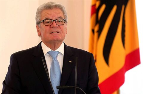 FILE - In this Dec. 2, 2013 file picture German president Joachim Gauck speaks at the presidential residence Bellevue palace in Berlin. German President Joachim Gauck is boycotting the Winter Olympics and will not travel to Sochi, Russia next year. Der Spiegel magazin reports that Gauck took the decision in protest against human rights violations and the harassment of Russian opposition political figures. The magazine says the Russian government was informed of his decision last week. The dpa news agency says presidential spokeswoman Ferdos Ferudastan confirmed the move on Sunday Dec. 8, 2013. Gauck's office could not immediately be reached for further confirmation. (AP Photo/dpa, Wolfgang Krumm,File)