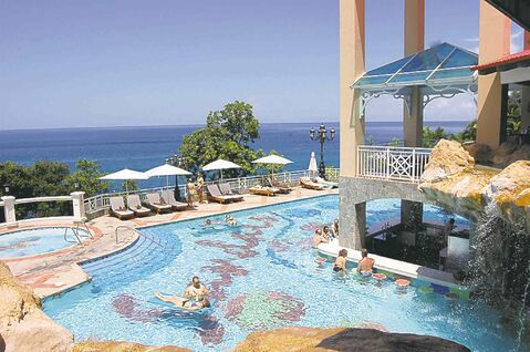 There are three pool complexes at Sandals Regency La Toc Resort.