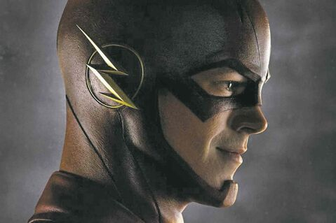 Grant Gustin plays The Flash in the upcoming series on the CW network.