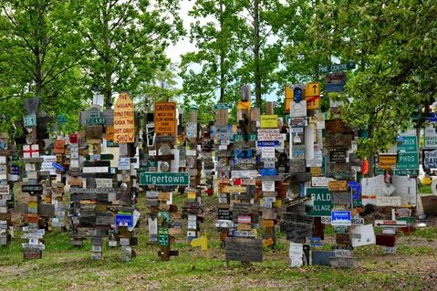 A forest of signs is shown in Watson Lake, Yukon in a handout photo. The unusual forest has received official recognition as a Yukon Historic Site.THE CANADIAN PRESS/HO-Yukon Government-Tony Gonda