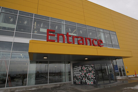 Outside view of  the new IKEA Winnipeg. The store will have its grand opening to the public on Nov. 28.