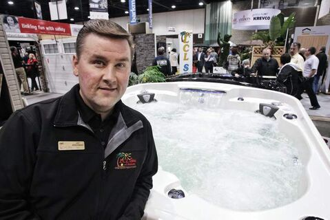 Jay Breckman of LCL Spas expects to make up for lost time this weekend.
