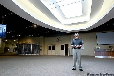 Senior Pastor Ray Duerksen stands in the massive foyer of the Southland Community Church in Steinbach, expected to become Manitoba's second-largest church at 5,500 square metres after it embarks on a $15-million expansion that will nearly double its size.