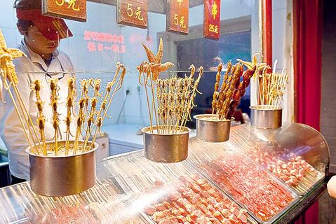 UNDATED -- Wangfujing Night Market street food. (Stuart Dee/Special to Vancouver Sun)