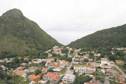 The Bottom, which is the capital of the mountainous island of Saba.