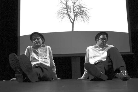 Thomas Toles, left, and Kevin Ramberran are Waiting for Godot.