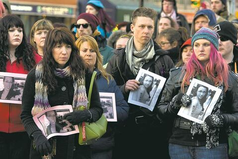 Several hundred people attend a vigil to remember Rehtaeh Parsons in Halifax on April 11. The girl's family says she ended  her own life following months of bullying after she was allegedly sexually assaulted and a photo of the incident was distributed.