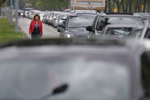 Many streets were more like parking lots last night as fans headed to Investors Group Field.