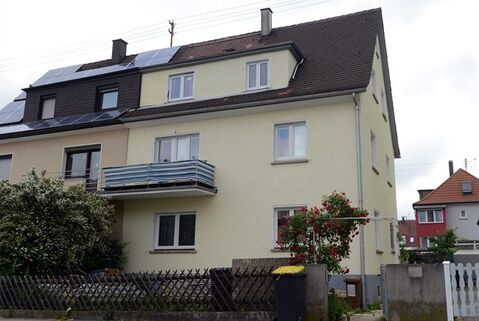 View of the house which was raided by police in Fellbach, Germany, Tuesday, June 25, 2013, as German prosecutors said they are investigating two men suspected of planning terrorist attacks using model airplanes. Authorities in Germany and neighboring Belgium conducted a series of searches of nine properties in Germany and Belgium. (AP Photo/dpa, Franziska Kraufmann)